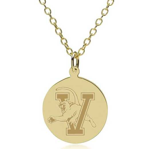 615789825876: Vermont 14K Gold Pendant & Chain by M.LaHart & Co.