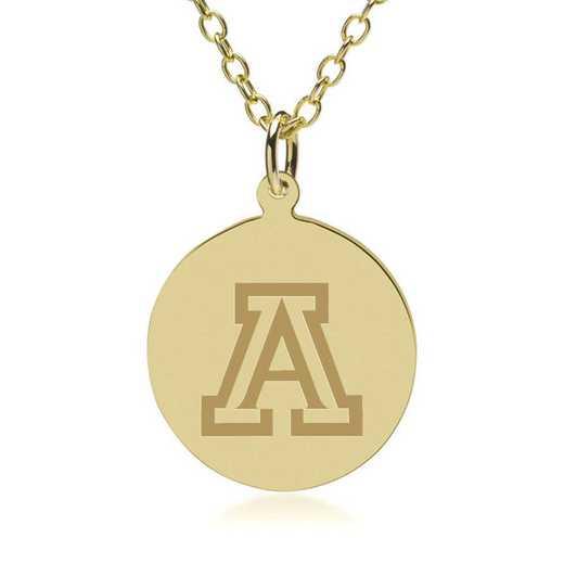 615789749776: University of Arizona 18K Gold Pendant & Chain by M.LaHart & Co.