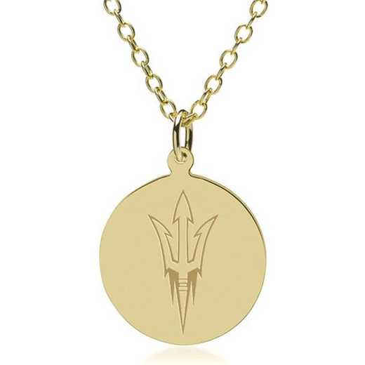 615789593515: Arizona State 18K Gold Pendant & Chain by M.LaHart & Co.
