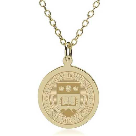 615789495307: Boston College 18K Gold Pendant & Chain by M.LaHart & Co.