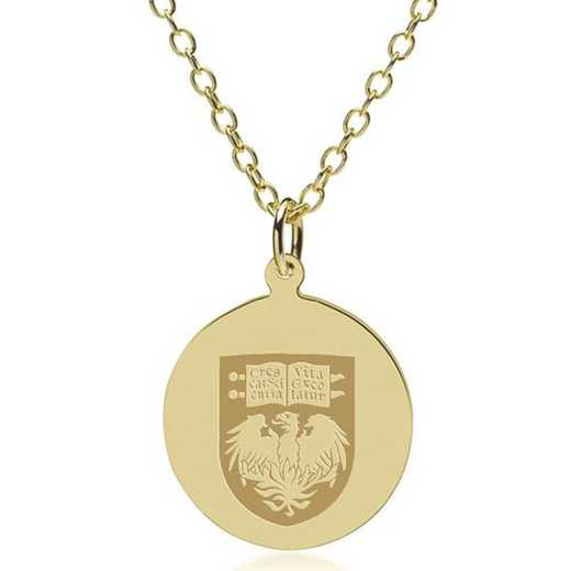 615789437901: Chicago 18K Gold Pendant & Chain by M.LaHart & Co.