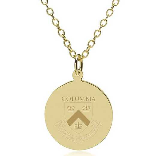 615789259602: Columbia 18K Gold Pendant & Chain by M.LaHart & Co.
