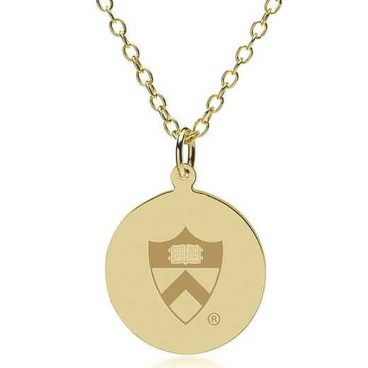 615789607069: Princeton 18K Gold Pendant & Chain by M.LaHart & Co.
