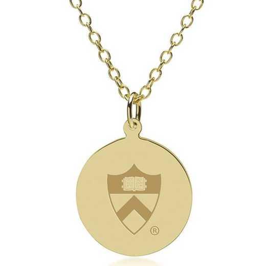 615789607069: Princeton 18K Gold Pendant & Chain by M.LaHart & Co.