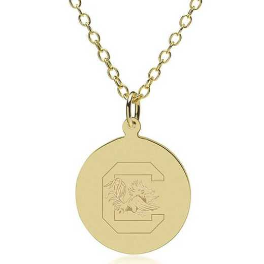 615789751571: South Carolina 18K Gold Pendant & Chain by M.LaHart & Co.