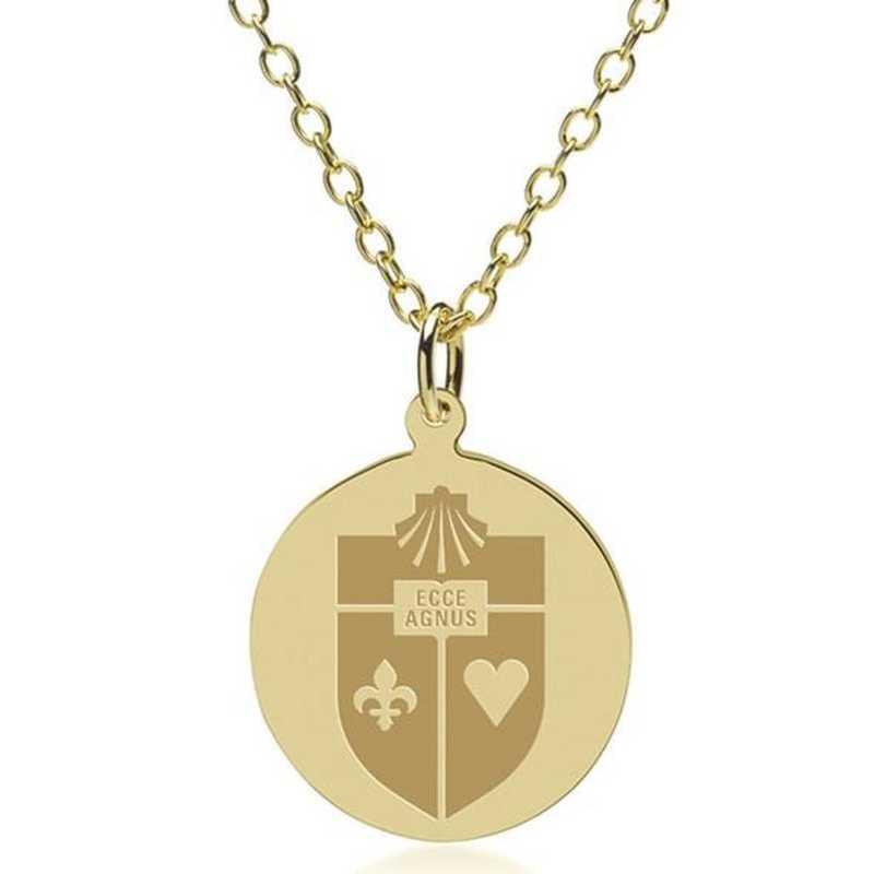 615789815105: St. John's 18K Gold Pendant & Chain by M.LaHart & Co.