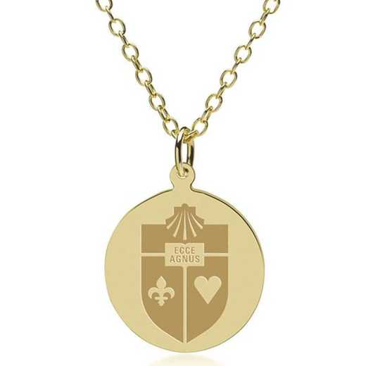 615789815105: St. John's 18K Gold Pendant & Chain by M.LaHart & Co.