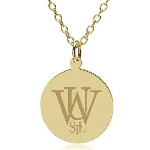 615789040170: WUSTL 18K Gold Pendant & Chain by M.LaHart & Co.