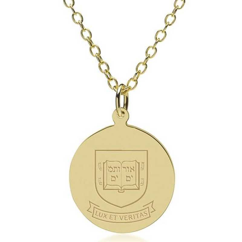 615789145677: Yale 18K Gold Pendant & Chain by M.LaHart & Co.