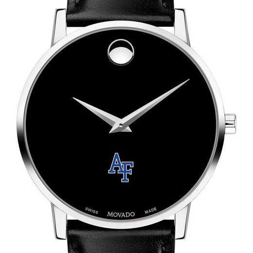 615789092520: US Air Force Academy Men's Movado Museum w/ Leather Strap