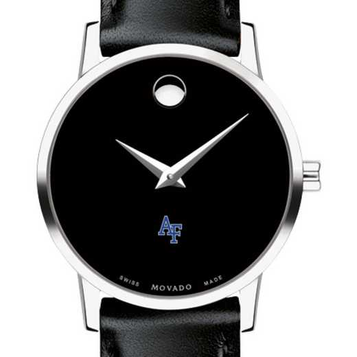 615789797166: US Air Force Academy Women's Movado Museum w/ Leather Strap