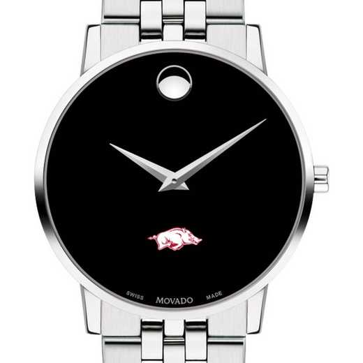 615789736226: Univ of Arkansas Men's Movado Museum w/ Bracelet