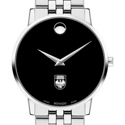 615789390985: Univ of Chicago Men's Movado Museum w/ Bracelet