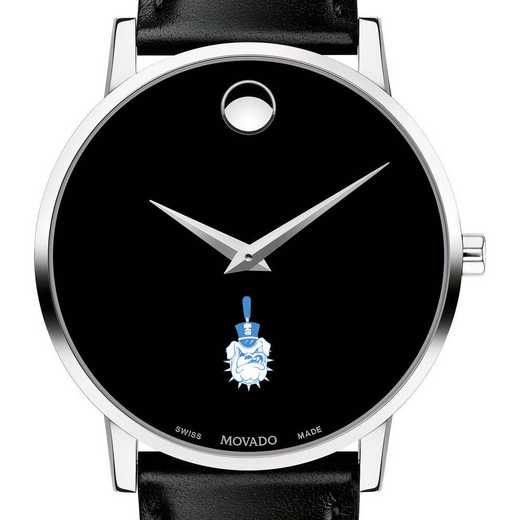 615789052579: Citadel Men's Movado Museum w/ Leather Strap