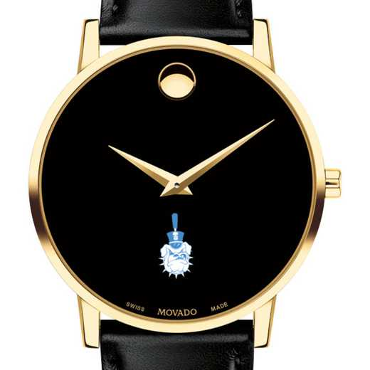 615789108368: Citadel Men's Movado Gold Museum Classic Leather