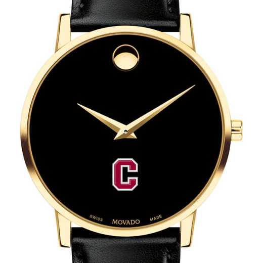 615789738237: Colgate Univ Men's Movado Gold Museum Classic Leather