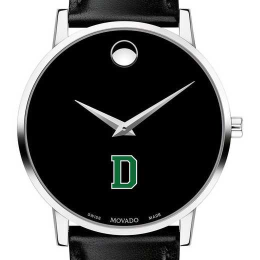615789907770: Dartmouth College Men's Movado Museum w/ Leather Strap
