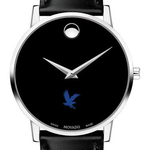 615789015345: Embry-Riddle Men's Movado Museum w/ Leather Strap