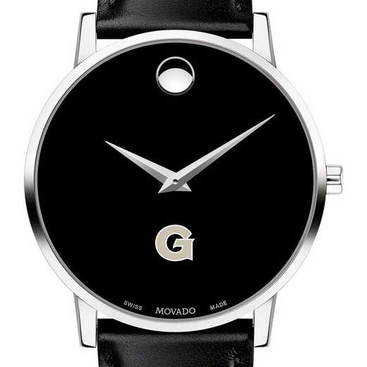 615789814207: Georgetown Univ Men's Movado Museum w/ Leather Strap
