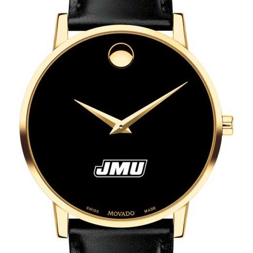 615789518617: James Madison Univ Men's Movado Gold Museum Classic Leather