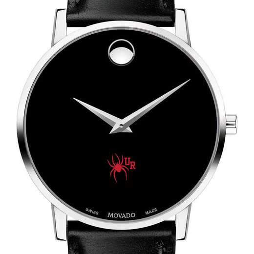 615789426981: Univer of Richmond Men's Movado Museum with Leather Strap