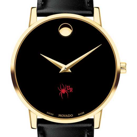 615789882688: Univers of Richmond Men's Movado Gold Museum Classic Leather