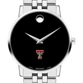 615789158486: Texas Tech Men's Movado Museum with Bracelet