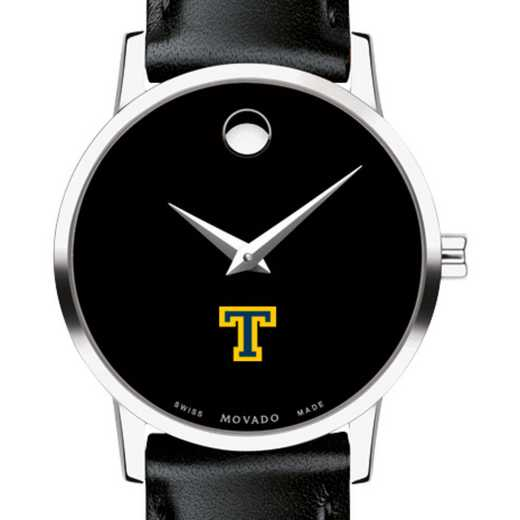 615789421078: Trinity College Women's Movado Museum with Leather Strap