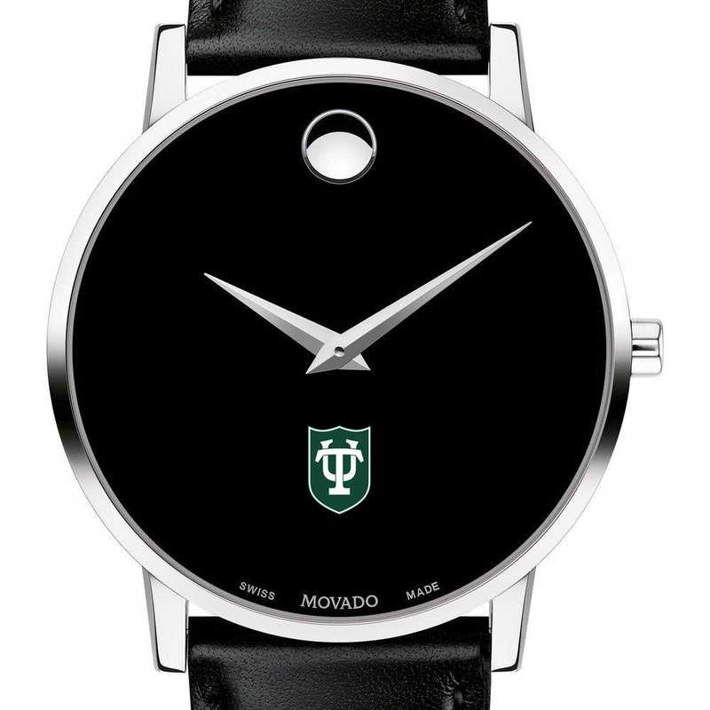 c245736d5 Tulane University Men's Movado Museum Watch with Leather Strap by M ...