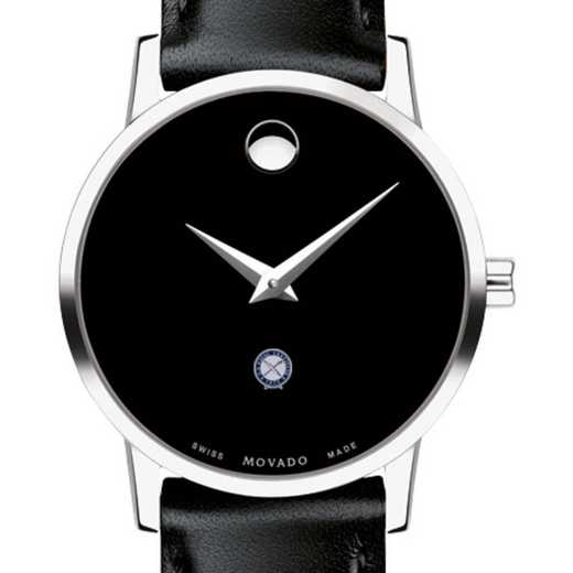 615789973645: U.S. Naval Inst Women's Movado Museum with Leather Strap