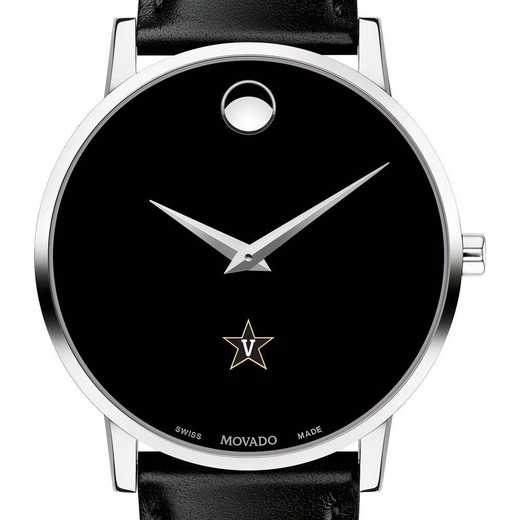 615789247173: Vanderbilt  Men's Movado Museum with Leather Strap