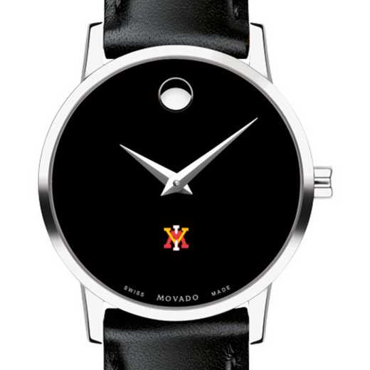 615789602378: VMI Women's Movado Museum with Leather Strap
