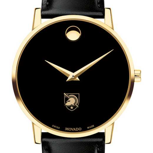 615789506881: US Military Academy Men's Movado Gold Museum Classic Lther