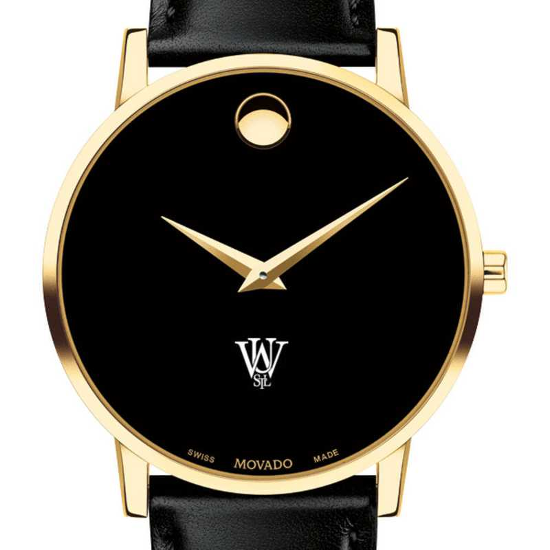 615789210306: WUSTL Men's Movado Gold Museum Classic Leather