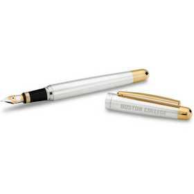 615789258551: Boston College Fountain Pen in SS w/Gold Trim