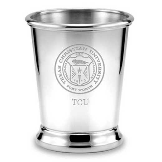 615789101239: TCU Pewter Julep Cup by M.LaHart & Co.