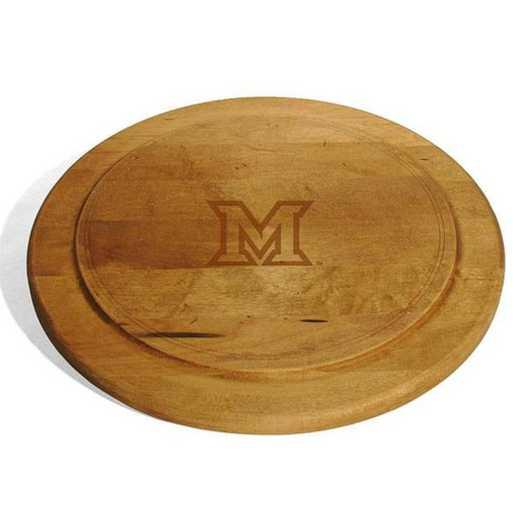 615789097235: Miami University Round Bread Server by M.LaHart & Co.