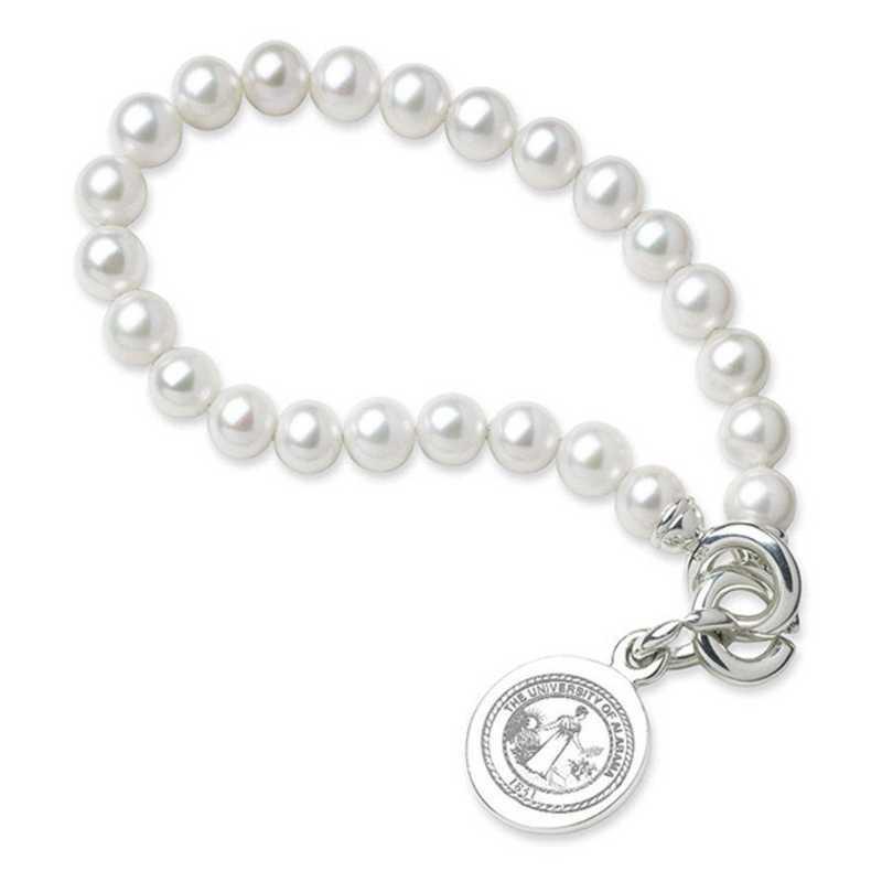 615789367185: Alabama Pearl Bracelet W/ SS Charm