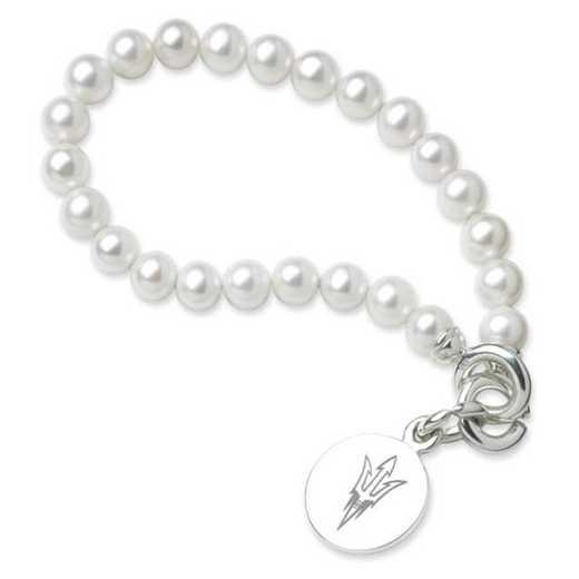 615789769293: Arizona ST Pearl Bracelet W/ SS Charm