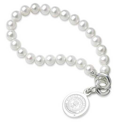 615797556014: Auburn Pearl Bracelet W/ SS Charm