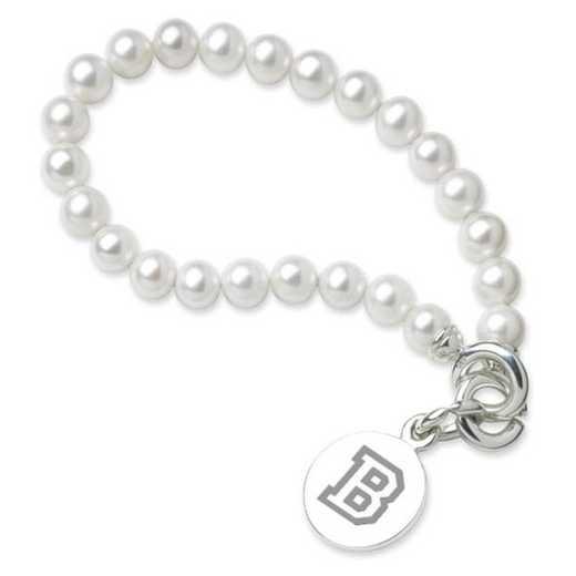 615789899211: Bucknell Pearl Bracelet W/ SS Charm