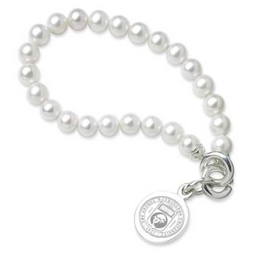 615789259329: George Washington Pearl Bracelet W/ SS Charm