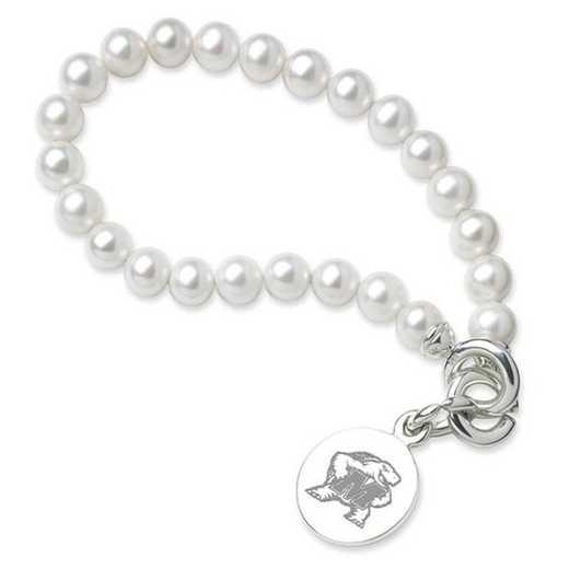 615789056539: Maryland Pearl Bracelet W/ SS Charm