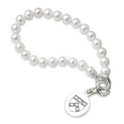 615789011279: Penn Pearl Bracelet W/ SS Charm