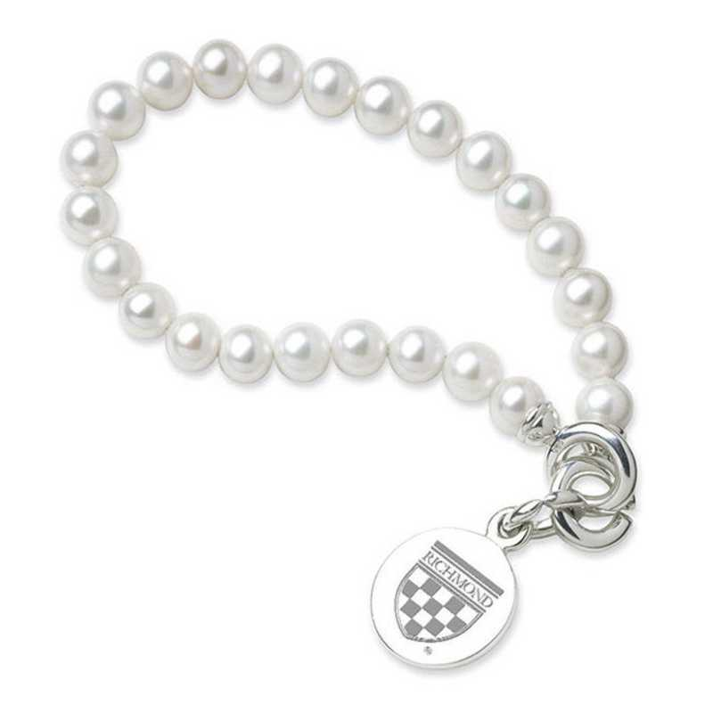615789780984: UNIV of Richmond Pearl Bracelet W/ SS Charm