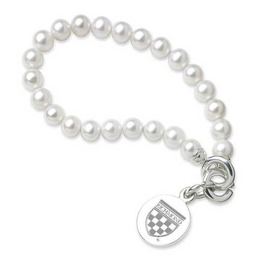 615789780984: UNIV of Richmond Pearl Bracelet W/ SS Charm