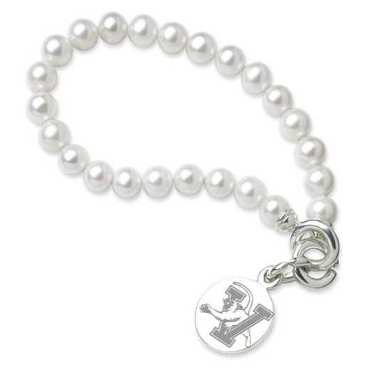 615789453512: UVM Pearl Bracelet W/ SS Charm