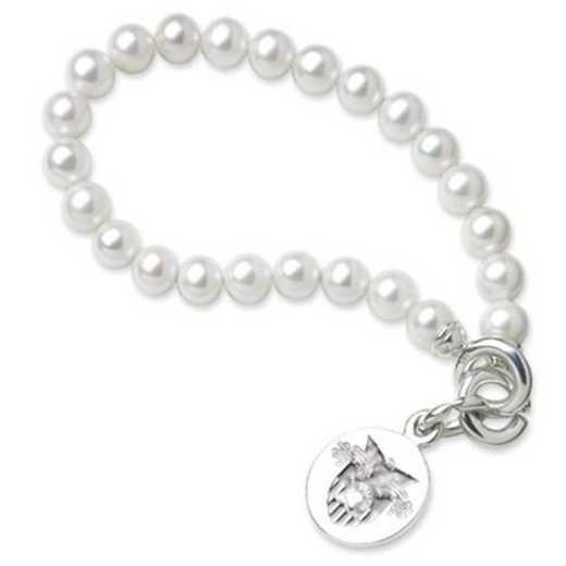 615789711551: West Point Pearl Bracelet W/ SS Charm