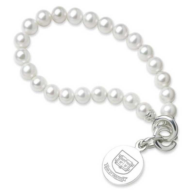 615789552925: Yale Pearl Bracelet W/ SS Charm