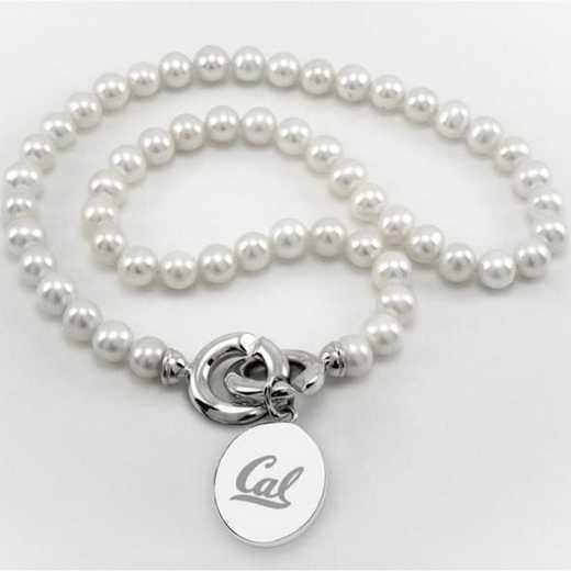 615789493525: Berkeley Pearl Necklace W/ SS Charm
